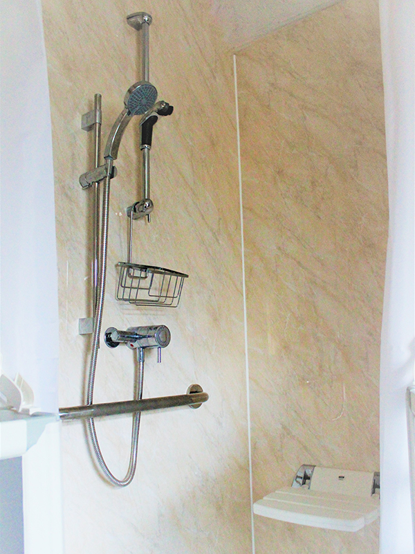 disabled seat, elderly bathroom, shower accessories, shower heads, shower panels, mastic, care doors, chrome, shower curtains