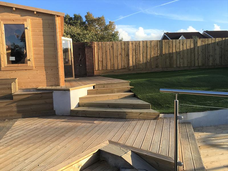 Fencing, Decking, Landscaping, Garden Studio, Decking Steps, Artificial Turf,