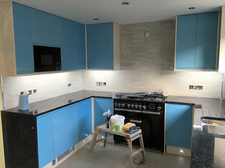 Tiling, kitchen, range cooker, granite worktops, electrics